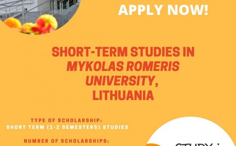 Burse la Universitatea Mykolas Romeris din Vilnius pentru studenții USARB