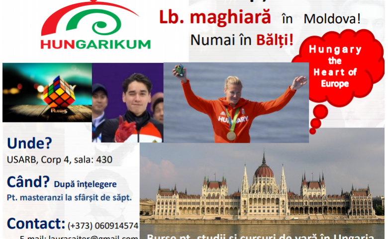 Curs opțional Lb. maghiară în Moldova! Numai în Bălți!