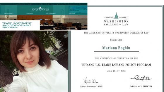 Școala de Vara organizată de Colegiul de Drept al Universității Americane din Washington, SUA