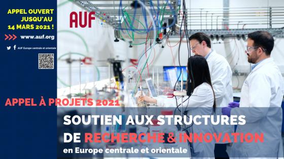 Apel regional pentru proiecte 2021 – Sprijin pentru structurile de cercetare și inovare din europa centrală și orientală!