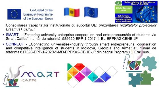 Prezentarea rezultatelor obținute în cadrul proiectelorSMART și CONNECT  în cadrul Zilelor Europei în USAR